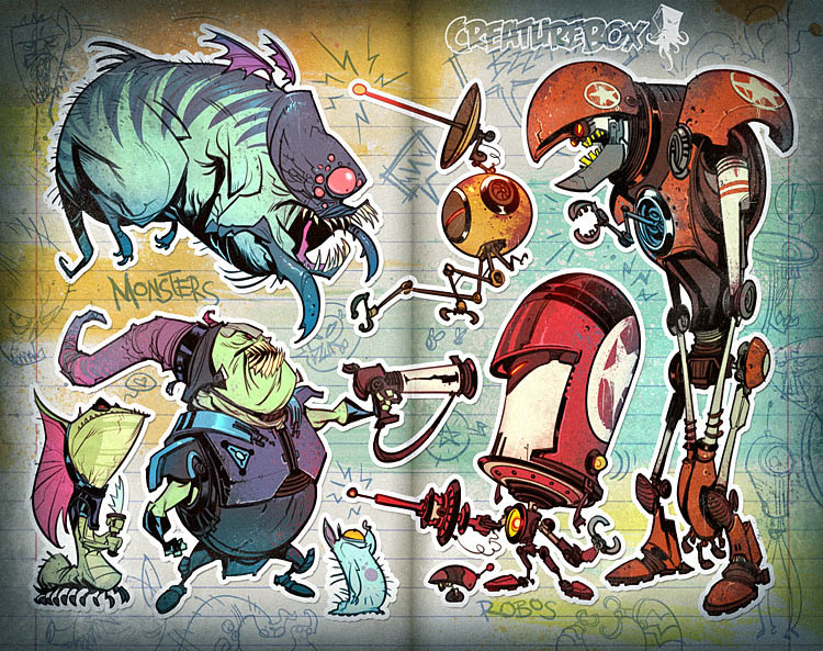 Creature And Character Design Book : Creature box on pinterest robots concept art and